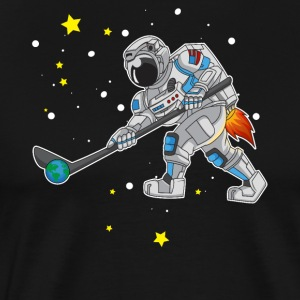 Hockey playing astronaut outer space gift
