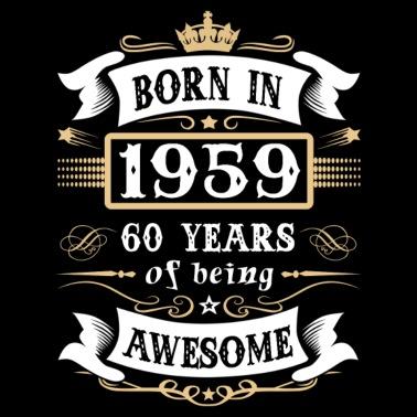 New 60 jaar om deze geweldige 60ste verjaardag van 1959 te worden &DV54