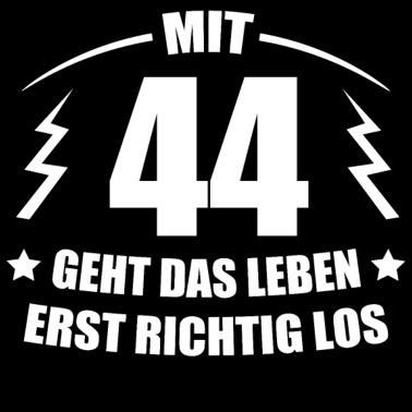 44 Vierundvierzigster Geburtstag The Legend 44 Years Männer T Shirt Weiß