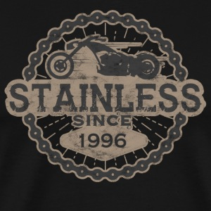 stainless biker shirt born ride road old 1996