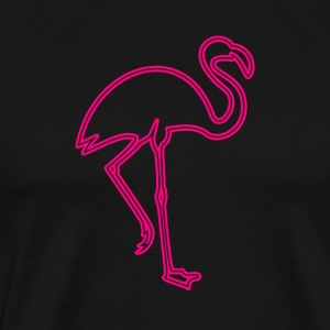 80s Retro Neon Sign Pink Flamingo