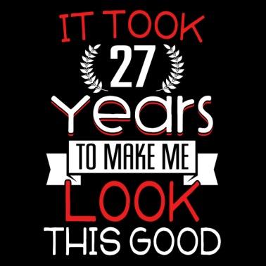 Gelukkige Verjaardag 27 27ste Verjaardag 27 Jaar Oud Mannen