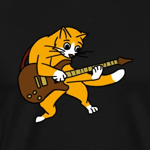 Cat Playing Guitar Rock Guitarist Cartoon Animal
