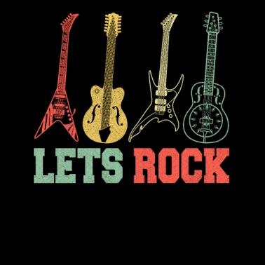 9bd2d40608c bass player. Guitars Rock Rock n Roll Band Concert Retro - Men s Premium T- Shirt
