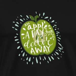 An Apple a Day Keeps the Doctor Away Apfel Spruch
