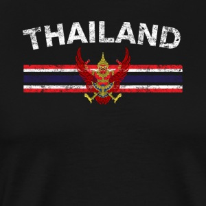 Thai Flag Shirt - Thai Emblem & Thailand Flag Shir