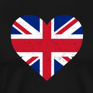 UK Flag Shirt Heart - Brittish Shirt