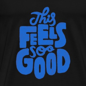 This feel so good blue typography