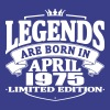 Legends are born in april 1975 - Men's Premium T-Shirt