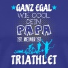 Kinder Triathlon T-Shirt - Papa ist Triathlet - Männer Premium T-Shirt
