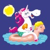 Unicorn water animal inflatable - Koszulka męska Premium