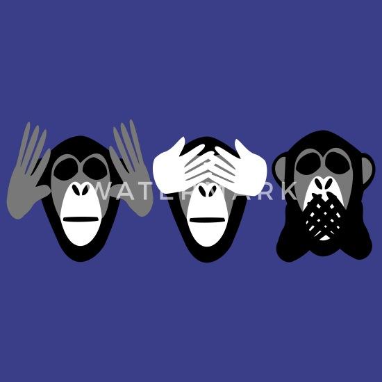 Drei Affen Nichts Hoeren Nichts Sehen Nichts Sagen Camiseta