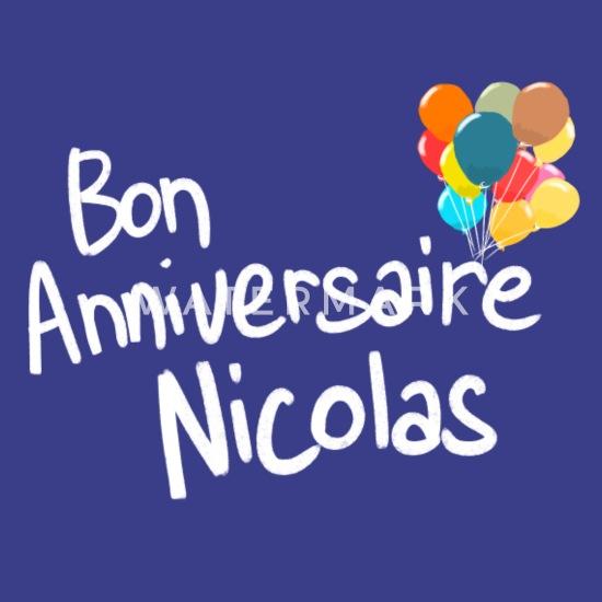 Bon Anniversaire Nicolas T Shirt Premium Homme Blanc