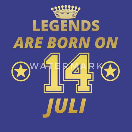 Légendes Né Le 14 Juillet Anniversaire T Shirt Premium Homme Bleu Roi