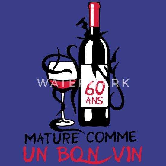 60 Ans Mature Bouteille Vin Anniversaire Men S Premium T