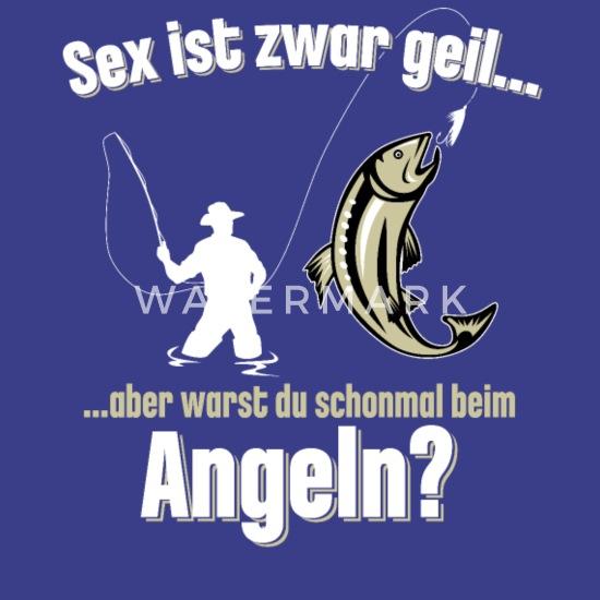 Angler Angeln perverser Spruch Männer Premium T Shirt
