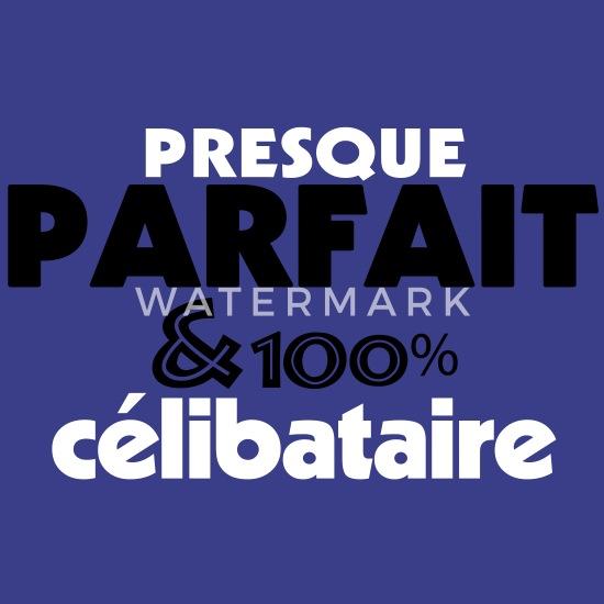 Presque Parfait 100% CELIBATAIRE (2c) T shirt Premium Homme bleu roi