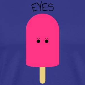Eyes / ice cream on style / ice cream / sun summer shirt - Men's Premium T-Shirt