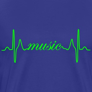 Music Heartbeat EKG - Premium T-skjorte for menn