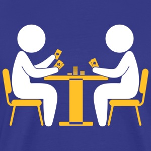 A Poker Player Looks At His Cards - Men's Premium T-Shirt