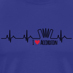 I love accordion - Männer Premium T-Shirt
