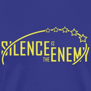 Silence.is.the.enemy (yellow) - Men's Premium T-Shirt