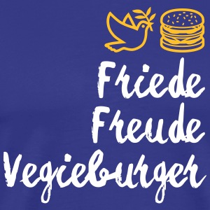 Peace, Joy, Vegieburger! - Men's Premium T-Shirt