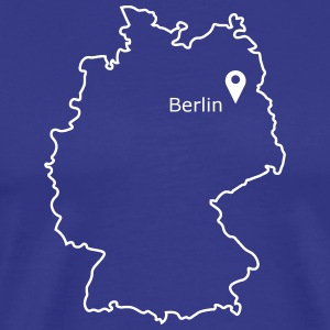 sted at være: Berlin - Herre premium T-shirt