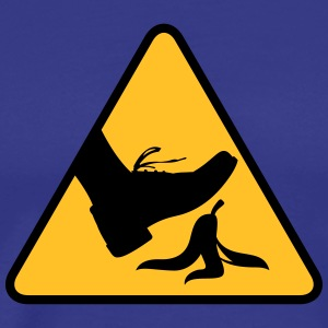 Risk Of Slipping With A Banana - Men's Premium T-Shirt