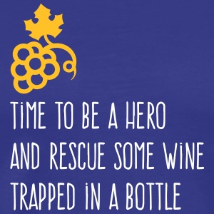 Rescue Some Wine Trapped In A Bottle! - Men's Premium T-Shirt