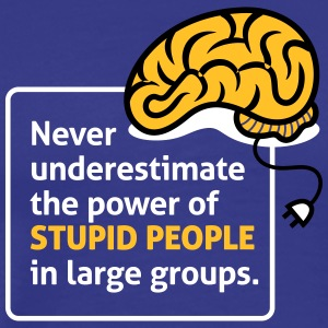 Never Underestimate The Power Of Stupid People - Men's Premium T-Shirt