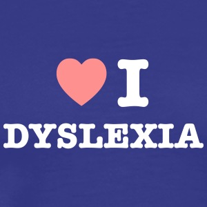 I Heart Dyslexia - Men's Premium T-Shirt