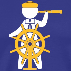 A Sailor Controls The Rudder Of A Ship - T-shirt Premium Homme