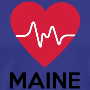 heart Maine - Men's Premium T-Shirt