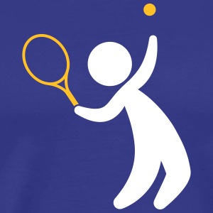 A Tennis Player Hits The Ball - Men's Premium T-Shirt