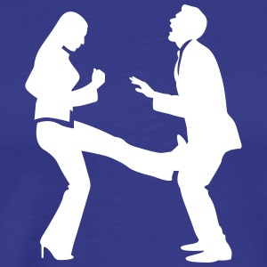 A Woman Strikes A Manager In The Balls - Men's Premium T-Shirt