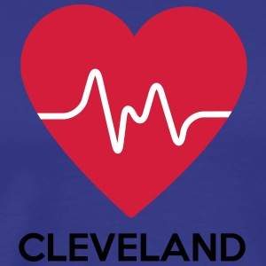 Heart Cleveland - Men's Premium T-Shirt