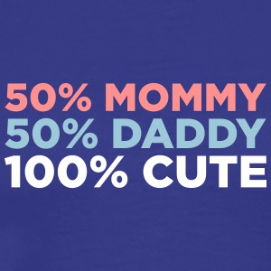 50% Mommy & 50% Daddy Comes A Adorable Baby! - Herre premium T-shirt