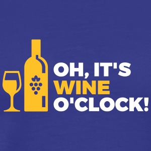Het is Wine O'clock! - Mannen Premium T-shirt