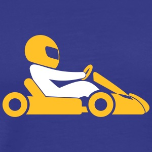 A Racer With Helmet And Car - Men's Premium T-Shirt