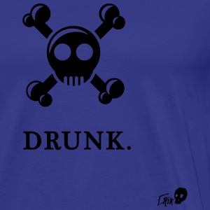 Drunk Skull - Men's Premium T-Shirt