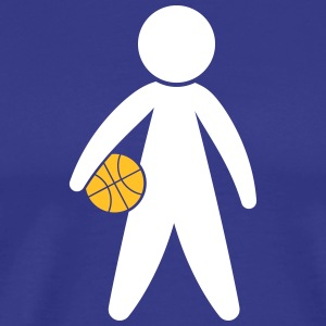A Basketball Player Holding The Ball - Men's Premium T-Shirt