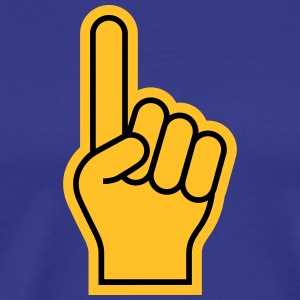 Sports Fan Finger - Herre premium T-shirt