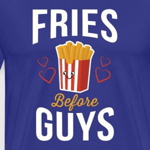 Fries Before Guys Pommes vor Jungs Shirt - Männer Premium T-Shirt