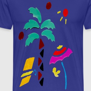 A Day At The Beach - Mannen Premium T-shirt