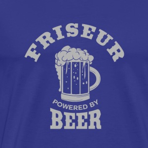 FRISEUR powered by Beer - Männer Premium T-Shirt