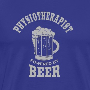 PHYSIOTHERAPIST powered by BEER - Men's Premium T-Shirt