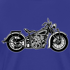 Chopper / Bobber Motorcycle 03_black white - Men's Premium T-Shirt