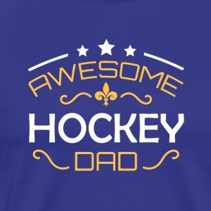 hockey pappa - Premium T-skjorte for menn