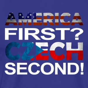 America first Czech second - Men's Premium T-Shirt